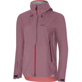GORE WEAR H5 Gore-Tex Active Hooded Jacket Women chestnut red/hibiscus pink